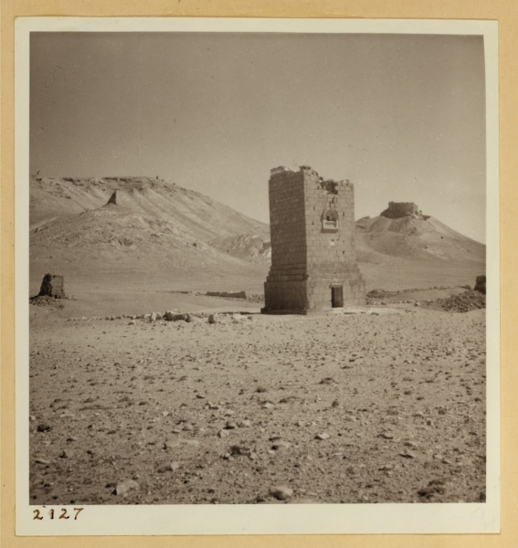 LIBRARY OF CONGRESS PHOTO: July 23. Palmyra. El Ahbel tomb tower. LC-DIG-ppmsca-17416-00144 (digital file from original on page 76, no. 2127)